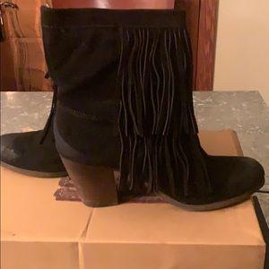 Denim & Supply black fringe boots